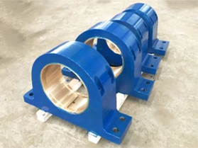 bearing block for continous casting