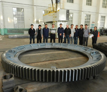 girth gear pre-assembly