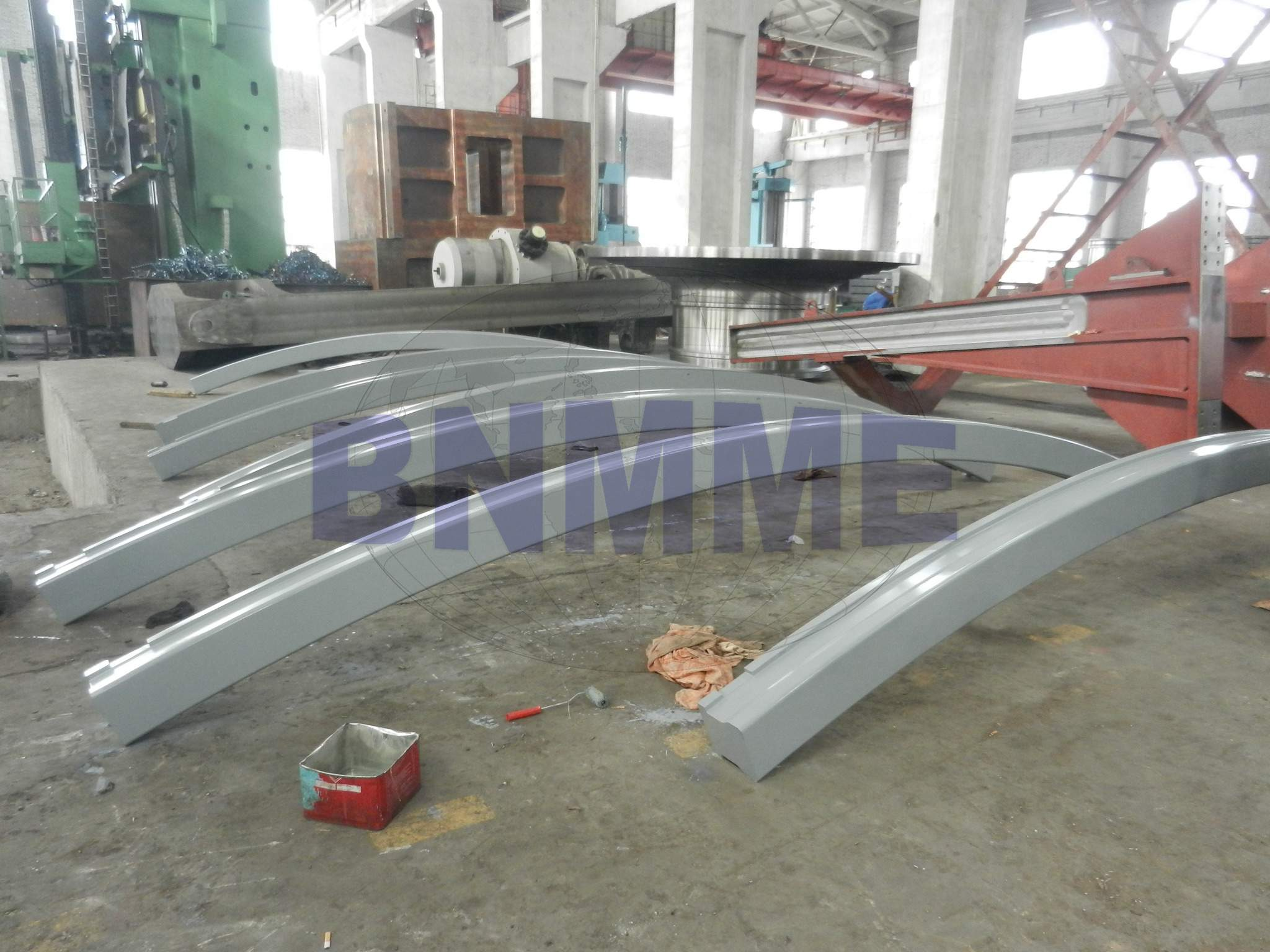 Ring rail of operation device for heavy mining equipment